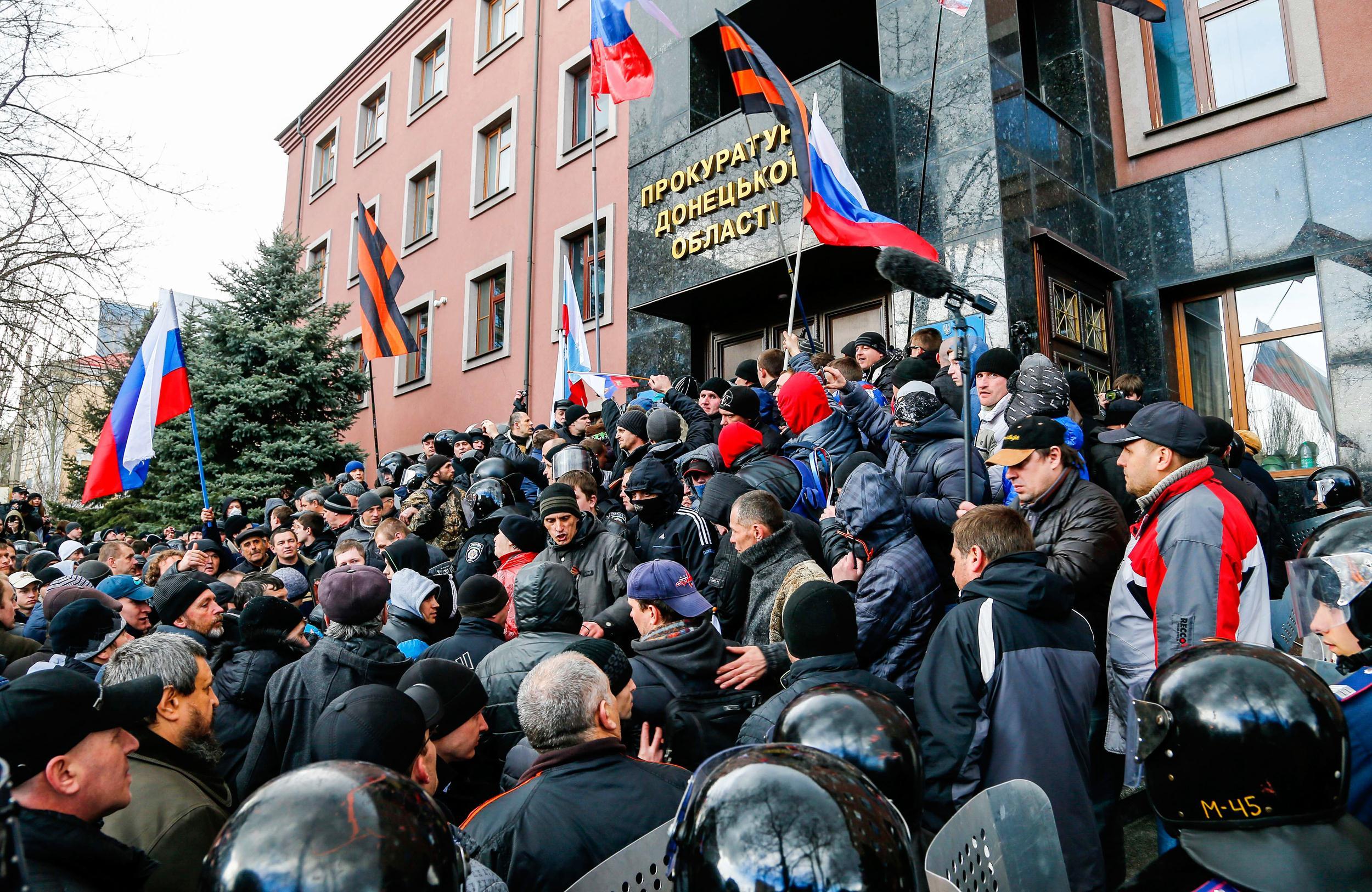 Donetsk Ukraine Rally P